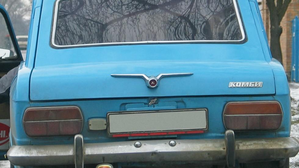 Чайка от Волги на багажнике
