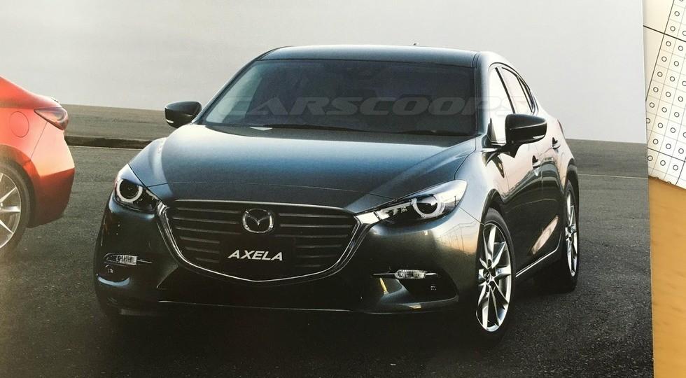 Вглобальной паутине появился 1-ый тизер обновленной Mazda3