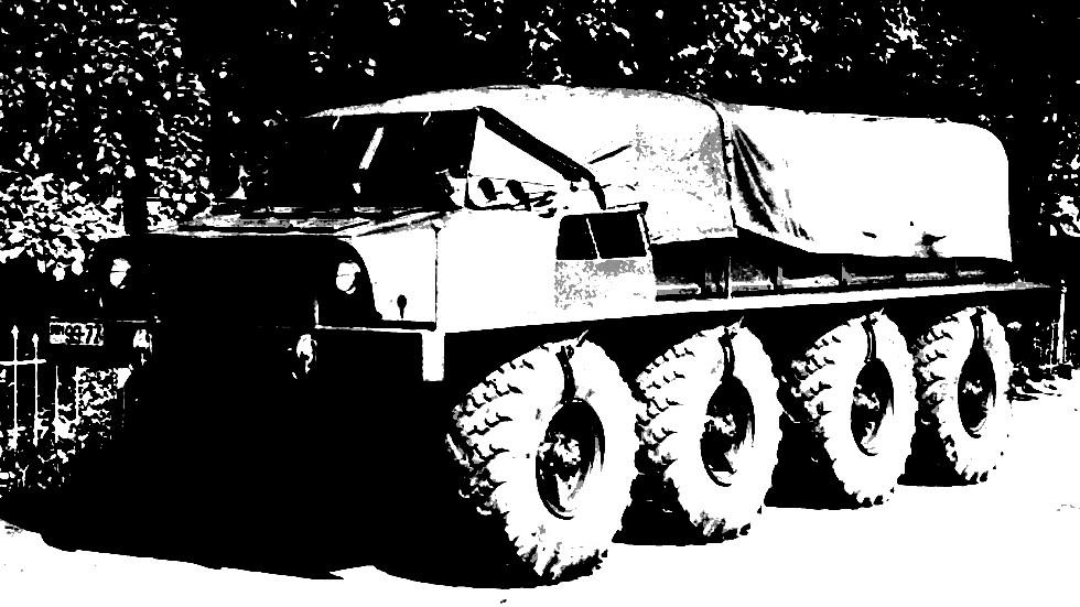 Плавающий прототип ЗИС-Э134 Макет № 2 без подвески. 1956 год