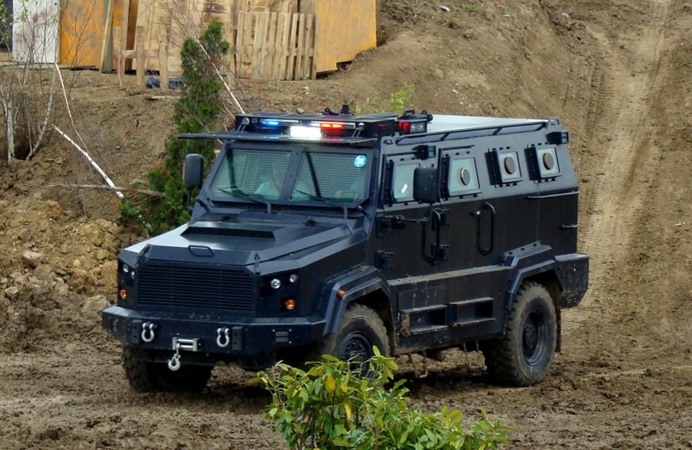12-местный бронетранспортер Streit Gladiator на демонстрационном показе