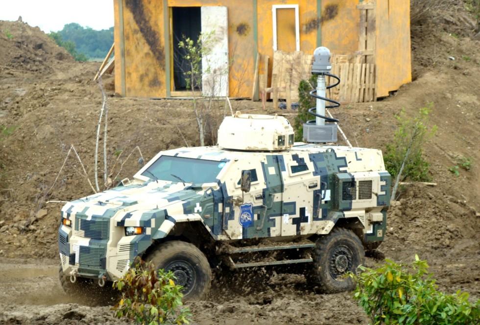 Машина Streit Scorpion AFV, первой получившая защитную систему MRAP
