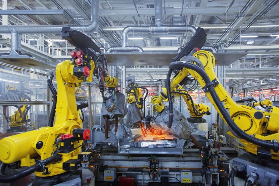 На фото: производство Volkswagen в Калуге