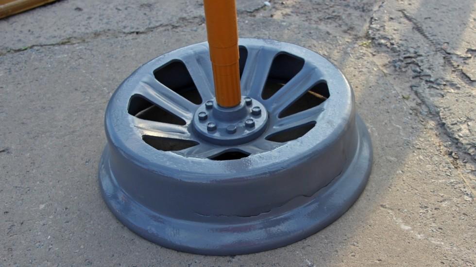 Изношенное колесо