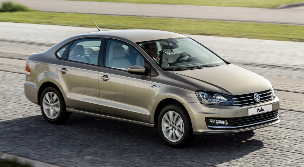 На фото: Volkswagen Polo Sedan