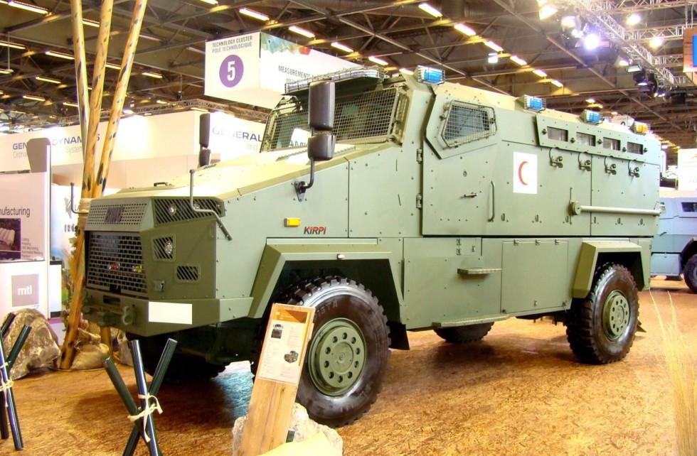 Известная машина Kirpi с измененной формой передней части корпуса