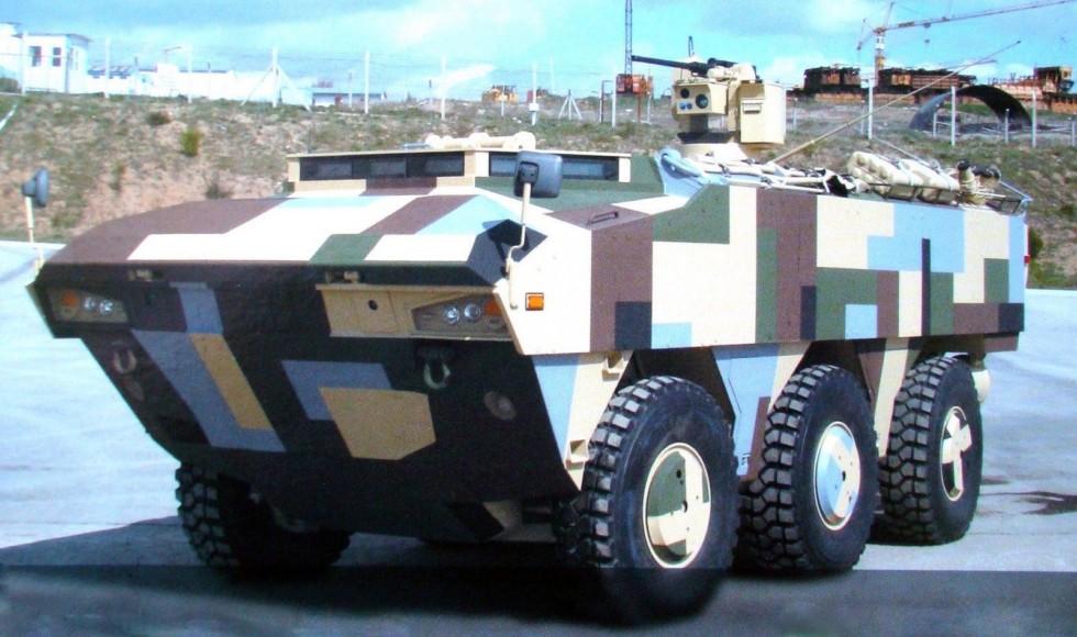 Бронемашина FNSS Pars 6х6 с крупнокалиберным 12,7-мм пулеметом