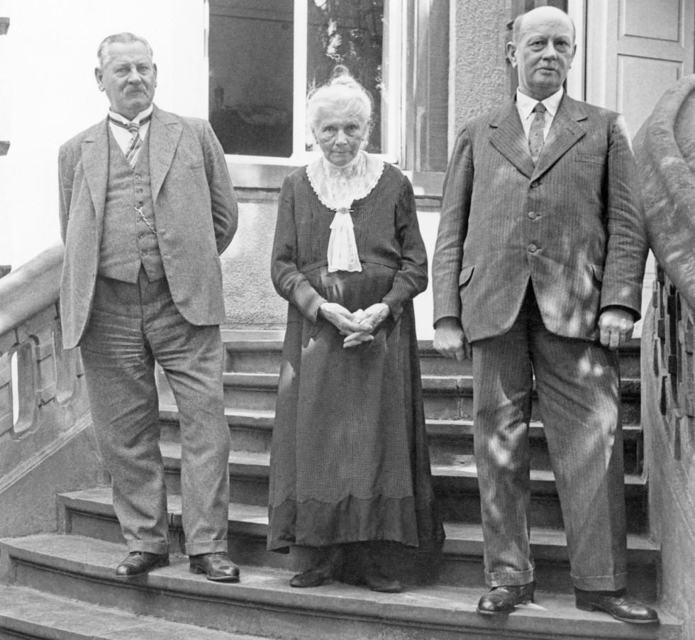 Берта Бенц и сыновья Рихард и Оген