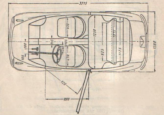 2Основные размеры Fiat 600