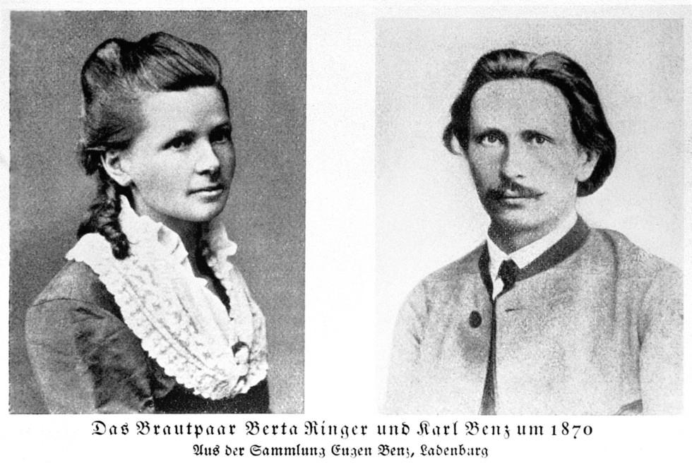 Bertha Ringer und Carl Benz, 1870