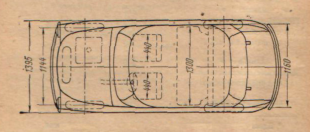 Основные размеры ЗАЗ-965