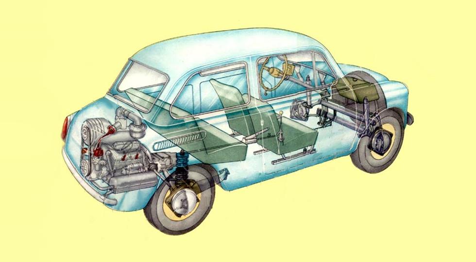 ЗАЗ-965 - один из чемпионов класса по вместительности салона