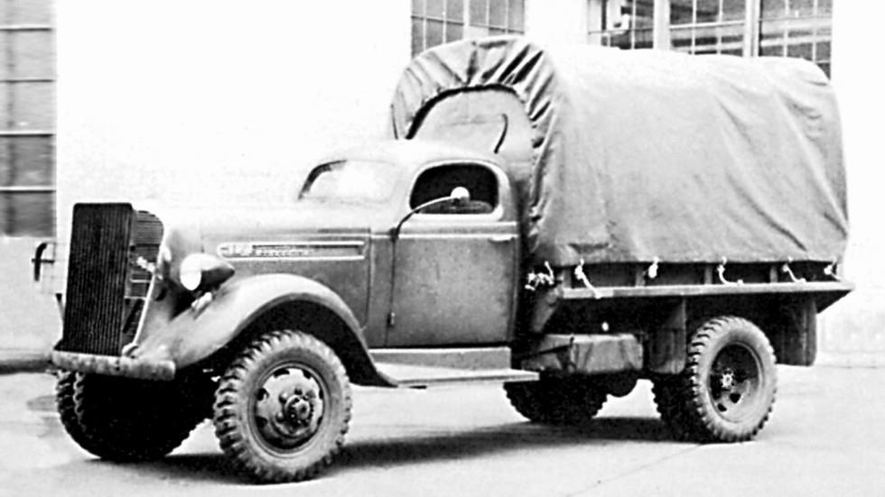 Первый полноприводный армейский грузовик Studebaker K15F. 1940 год