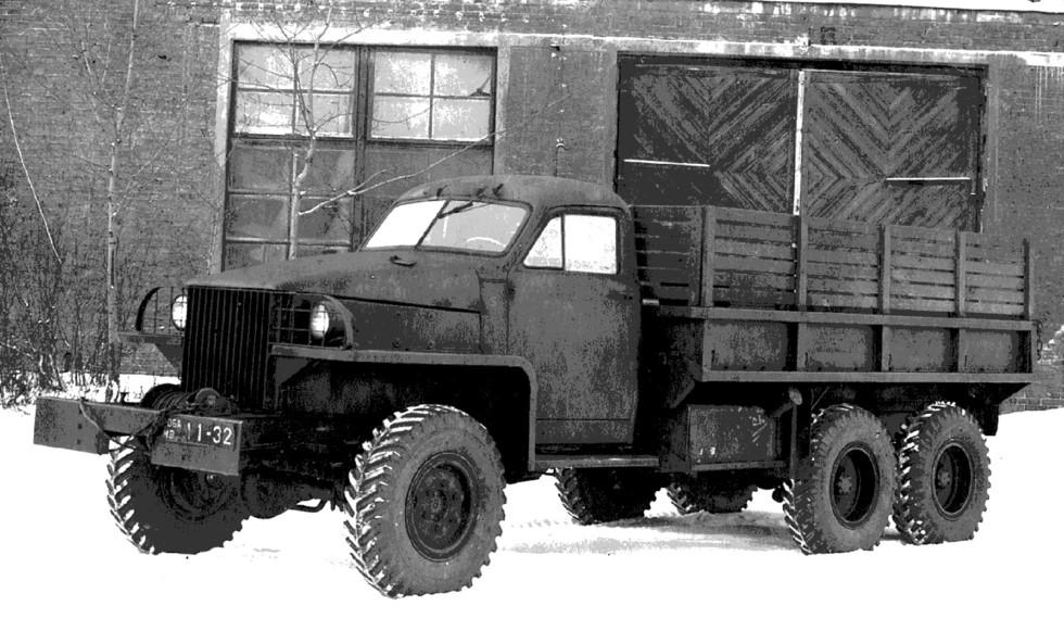 Опытный грузовик НАТИ на базе Studebaker. 1944 год (из архива А. Карасева)