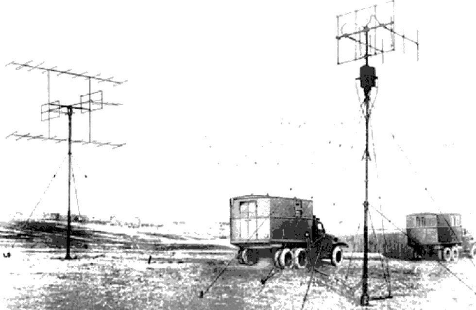 Радиолокационная станция П-3А Печора на ленд-лизовских шасси. 1948 год