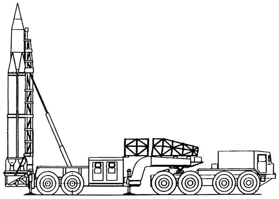 Проект комплекса «Темп» на полуприцепе МАЗ-5248. 1960 год (из архива А. Широкорада)
