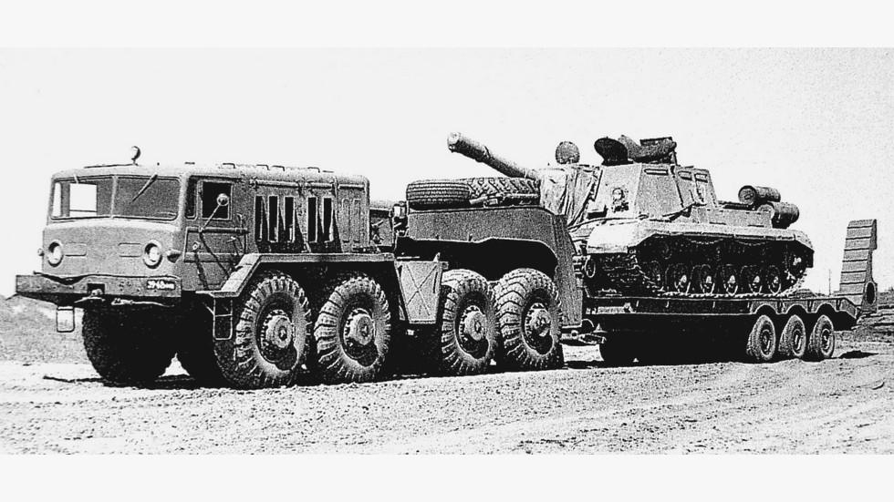 Седельный тягач МАЗ-537Г с трехосным полуприцепом МАЗ-796 (из архива НИИЦ АТ)