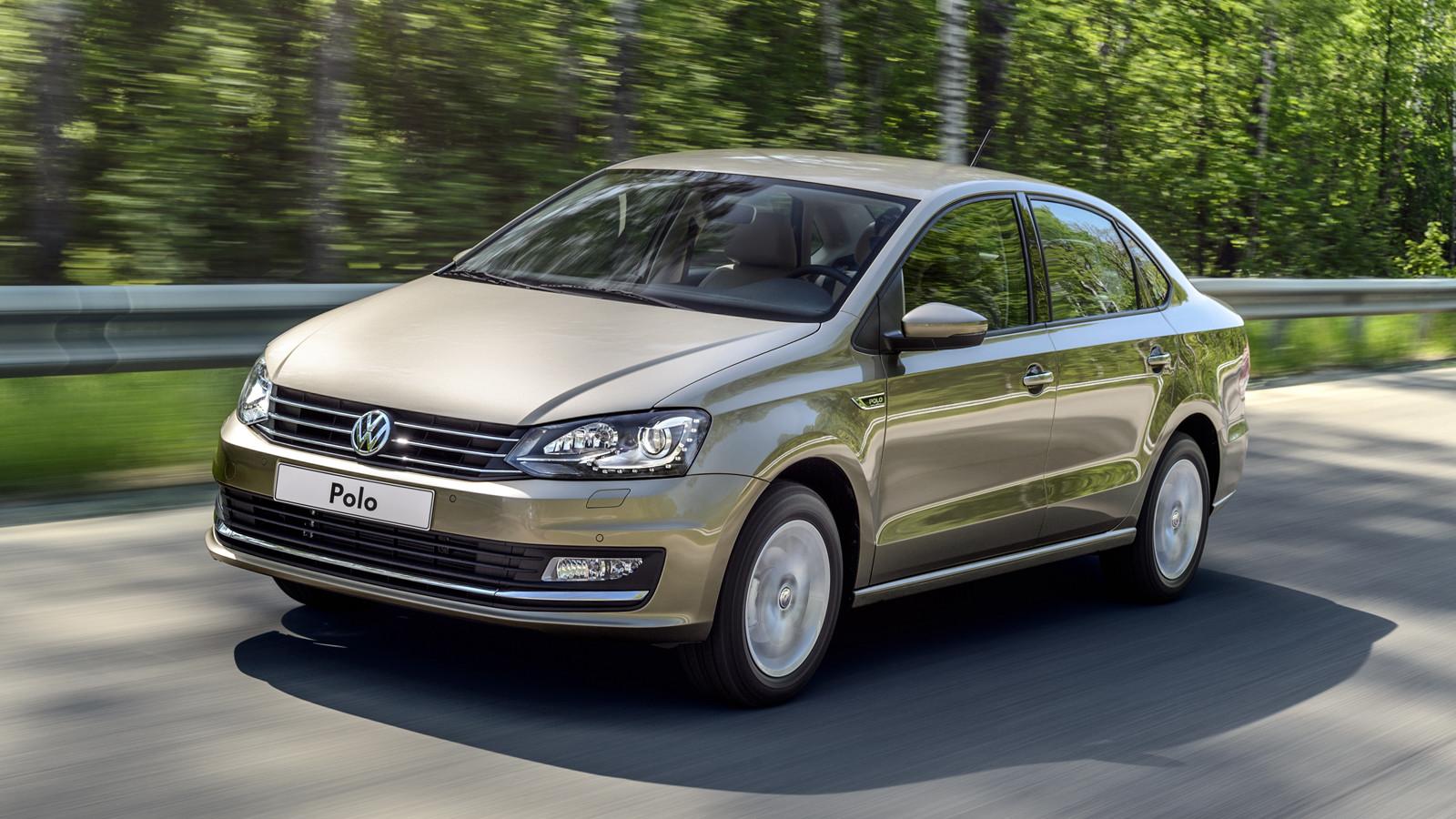 Продажи седана VW Polo в Российской Федерации растут