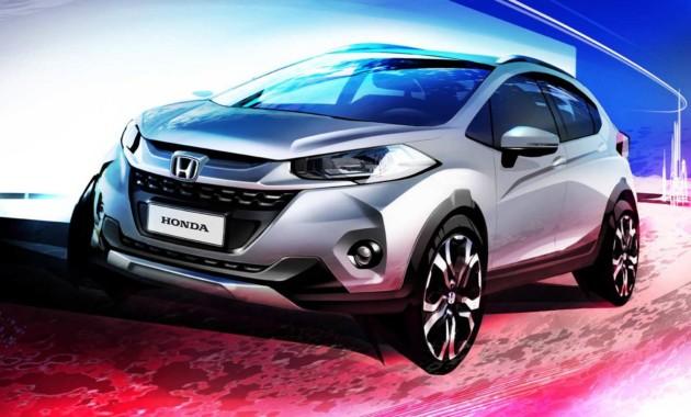 Хонда показала изображение нового компакт-кроссовера WR-V