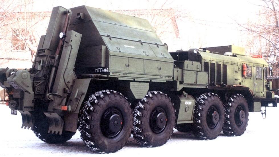 Предсерийный вариант машины техпомощи МТП-А4.2. 1995 год (фото КЗКТ)