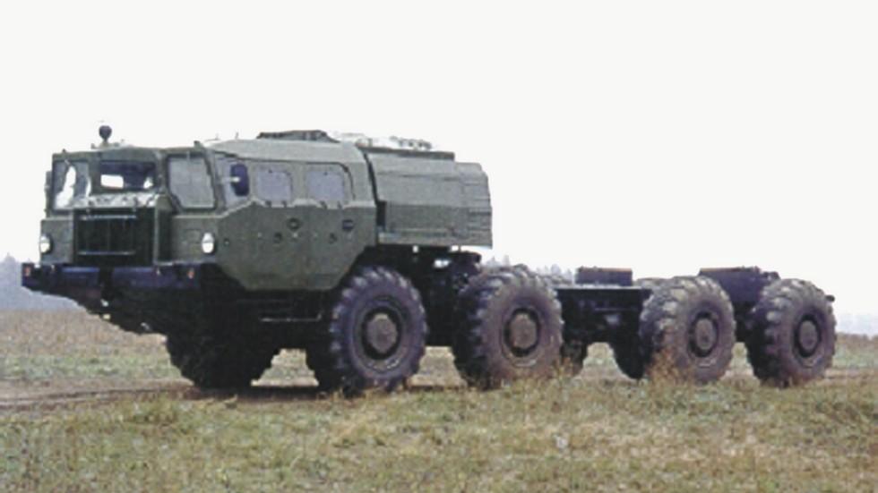 Серийное шасси МАЗ-543А с монтажной длиной рамы более 7 метров (из архива СКБ-1 МАЗ)