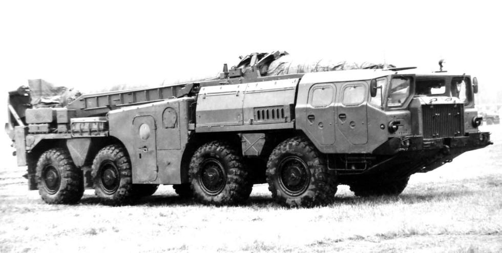 Модернизированная СПУ 9П117М на испытаниях в 21 НИИИ (из архива НИИЦ АТ)
