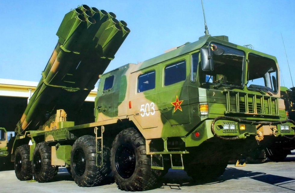 Китайский «Смерч» — пусковая установка А-100 на шасси Wanshan WS-2400