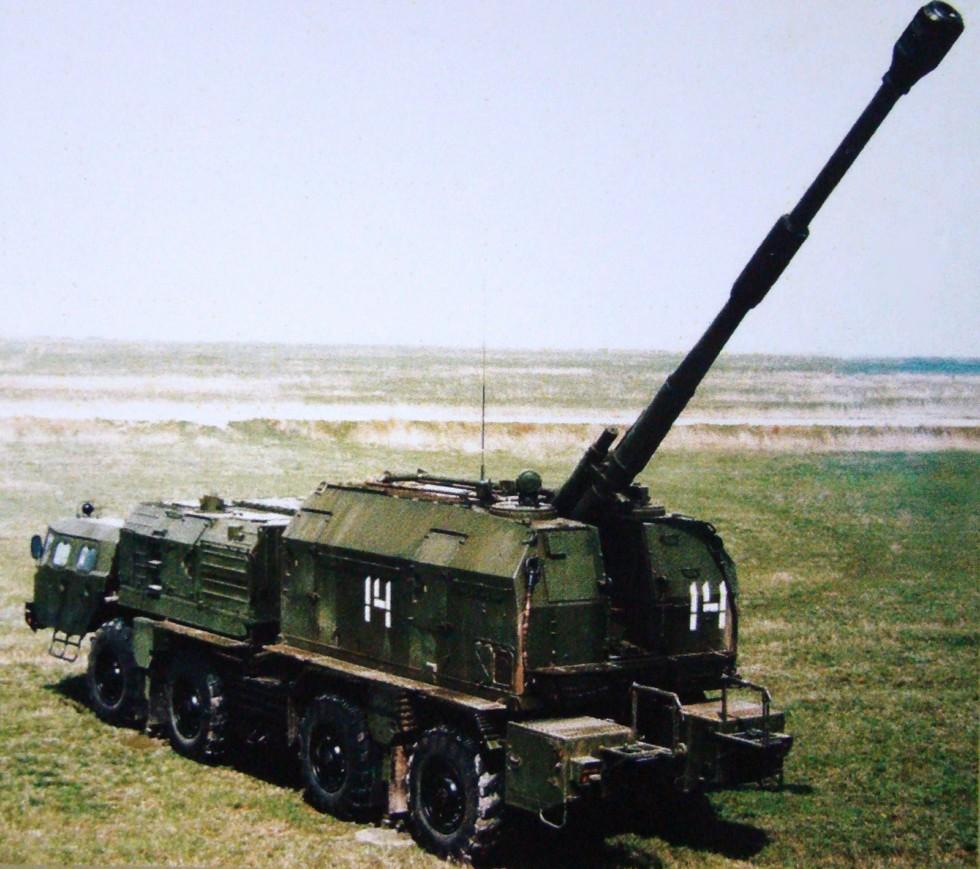 САУ комплекса «Берег» с шестиместной поворотной башней (из архива СКБ-1 МАЗ)