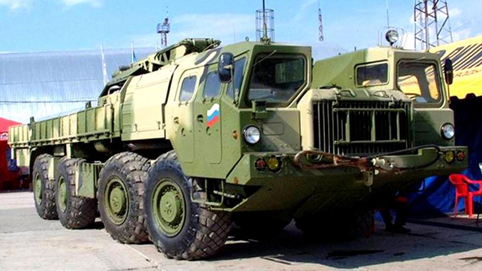 Модернизированная бортовая ТЗМ системы залпового огня «Смерч-М»