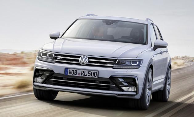 «Заряженный» VW Tiguan Rзамечен наНюрбургринге