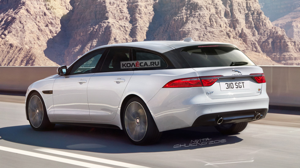 Jaguar XF wagon rear