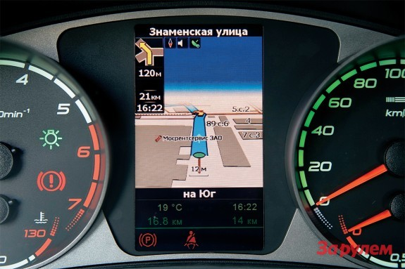 Навигатор в панель приборов