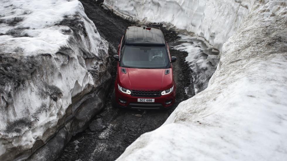 На участках со снегом и льдом максимальная скорость внедорожника составила 120 км/ч