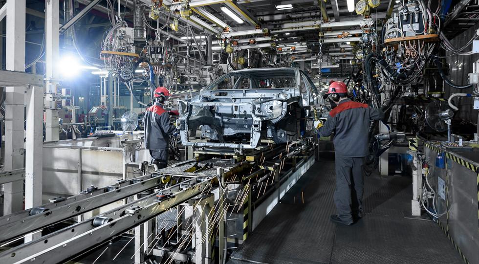 Производство легковушек вПетербурге за10 месяцев снизилось на9%