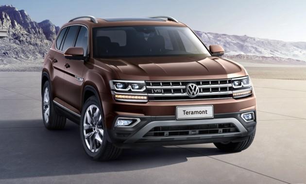 VW  Teramont для рынка Соединенных Штатов  презентовали под названием Atlas 7