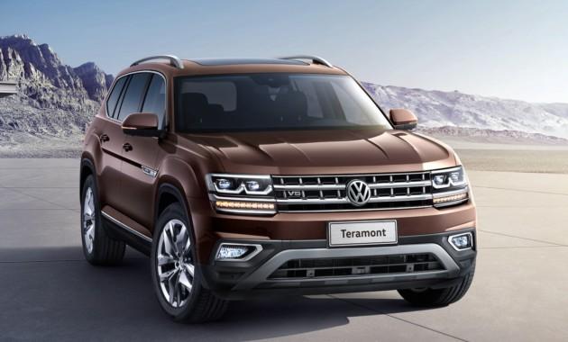 ВКитае поставили наконвейер самый большой внедорожник Volkswagen Teramont