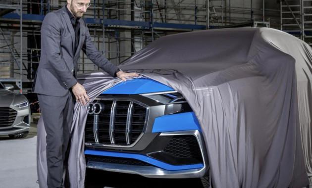 Ауди везет концептуальный автомобиль Q8 E-tron вДетройт— первые фото