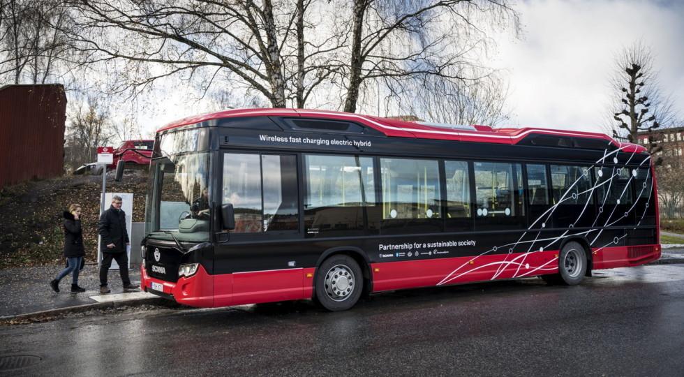 Scania инвестирует всистему быстрой беспроводной зарядки для городского автомобильного транспорта