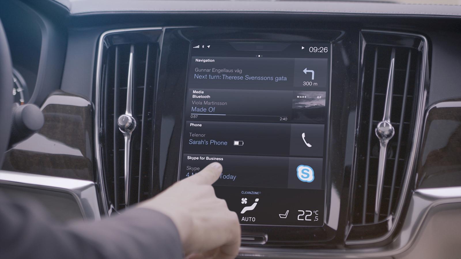 Автомобили Вольво XC90, S90 иV90 будут оборудованы сервисом Skype for Business