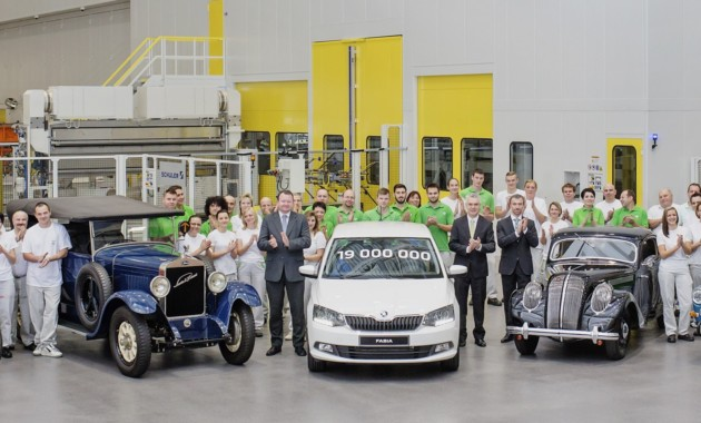 Концерн Шкода с1905 по2016 год выпустил 19 млн. авто