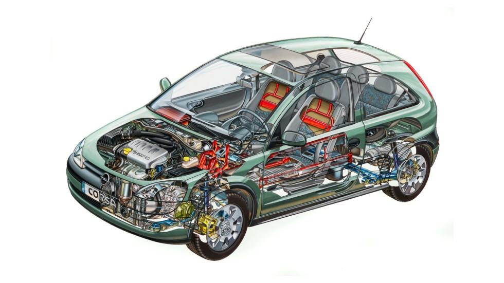 Opel Corsa 3-door (C) '2000–03чс
