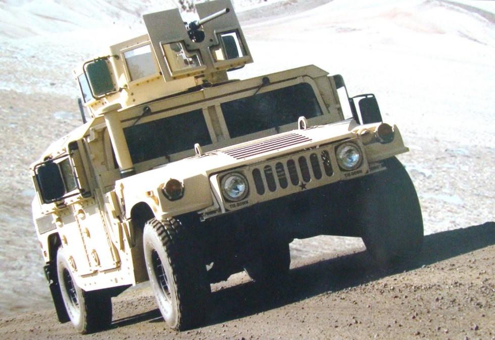 190-сильная машина M1151A1 третьего поколения с новым бронекорпусом