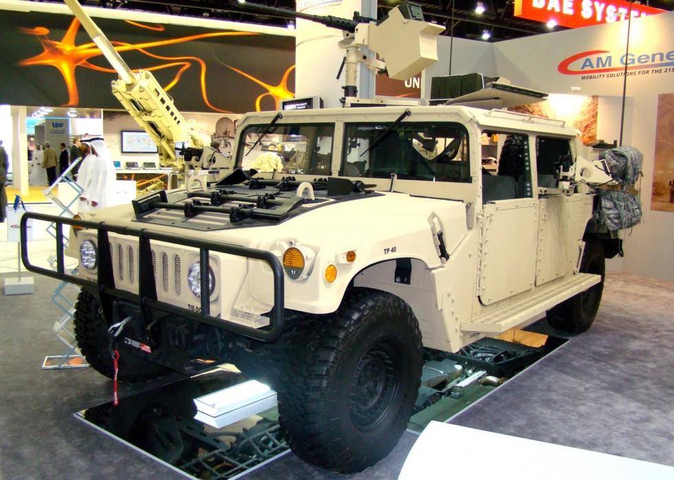 Пулеметный вариант M1165A1 Special Ops для выполнения спецопераций (фото автора)