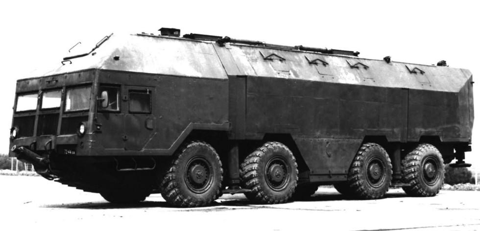 Опытная бронированная береговая установка «Редут» на шасси МАЗ-79111