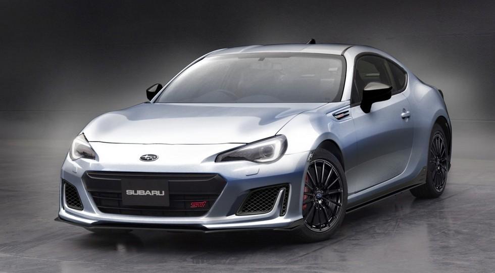 Субару зимой представит новейшую версию купе BRZ STI Sport