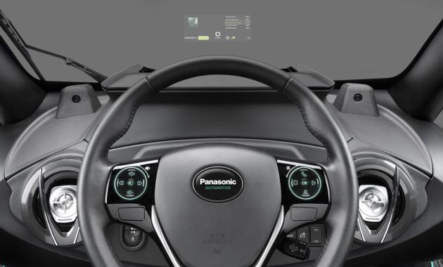 Panasonic представил автомобиль без приборной панели