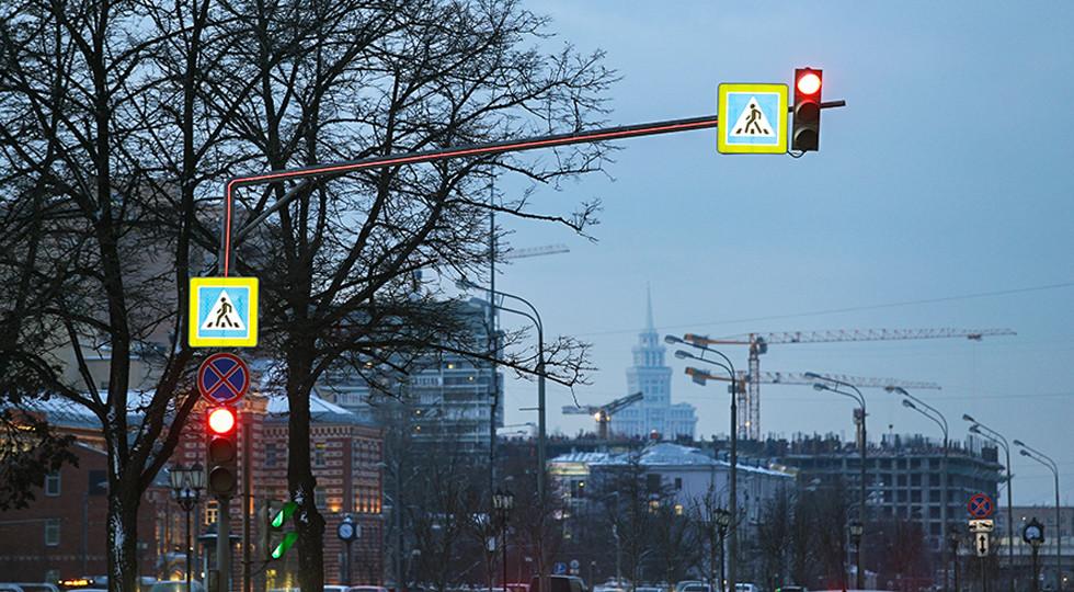 В столице России установили инновационную подсветку напешеходных переходах