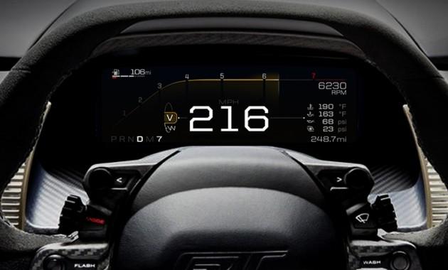 Суперкар Ford GT обзавелся адаптивной цифровой «приборкой»