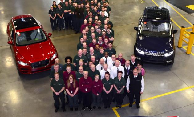 Ягуар Лэнд Ровер - 2-ой год подряд крупнейший британский автомобильный производитель