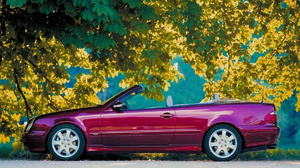 На фото: Mercedes-Benz CLK-Klasse Cabrio (A208) '1998–2002