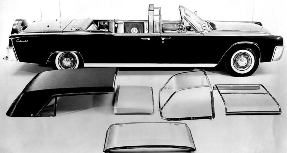 Президентский Lincoln Continental SS-100-Х с набором съемных частей крыши и боковин салона